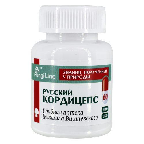 Русский кордицепс, банка 60 капсул