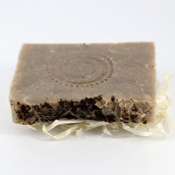 Натуральное мыло ручной работы «Чага, бергамот и розмарин», брусок