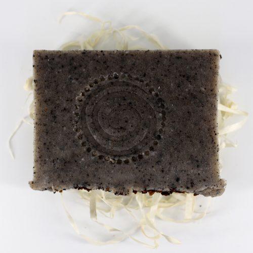 Натуральное мыло ручной работы «Чага, пачули и скраб», вес 100 г