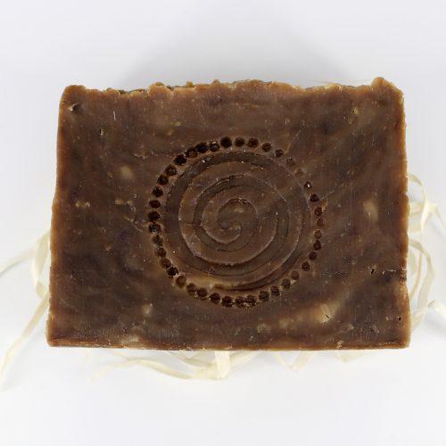 Натуральное мыло ручной работы «Дегтярное с чагой и мухомором» брусок