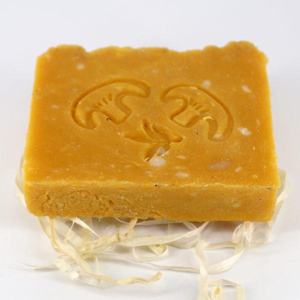 Натуральное мыло ручной работы «Лисичка и облепиха», брусок