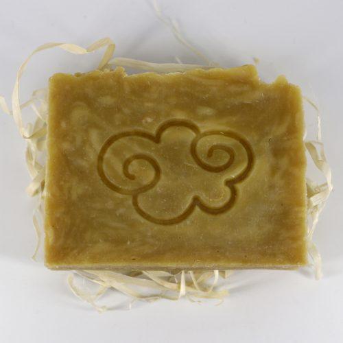 Натуральное мыло ручной работы «Детское с чередой, лисичкой и дрожалкой», брусок